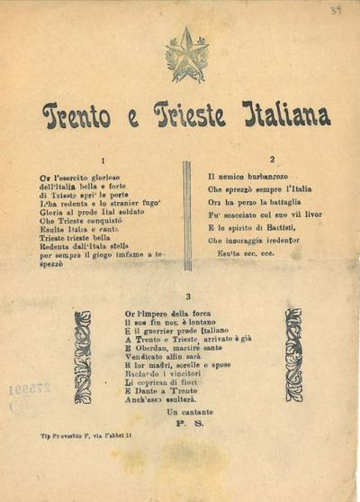 Trento e Trieste italiana