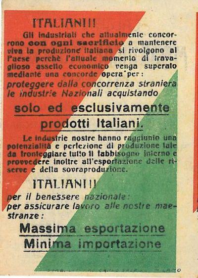 Italiani! : gli industriali che attualmente concorrono con ogni sacrificio a mantenere viva la produzione italiana si rivolgono al Paese [...]