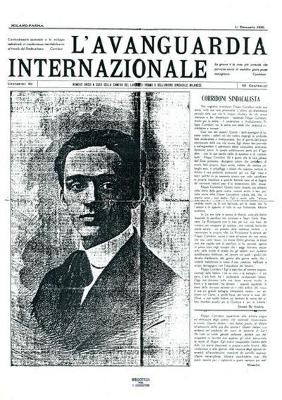 L'avanguardia internazionale : numero unico a cura della Camera del lavoro di Parma e dell'Unione sindacale milanese