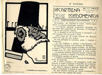 La cartolina della Domenica : diario illustrato della settimana