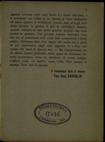 Collegamento morale  : quaderni editi dalla Sezione P della 8. Armata