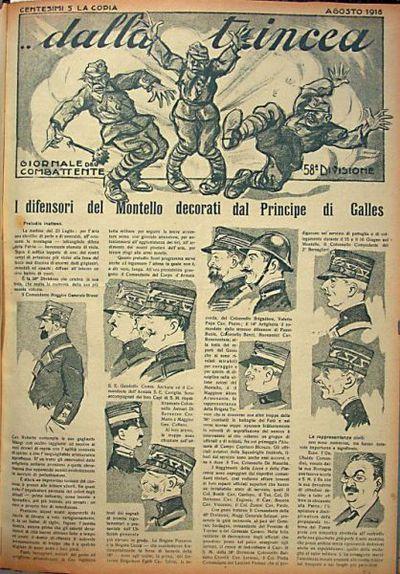 Dalla trincea  : giornale del combattente 58. divisione  : numero quasi unico più che raro