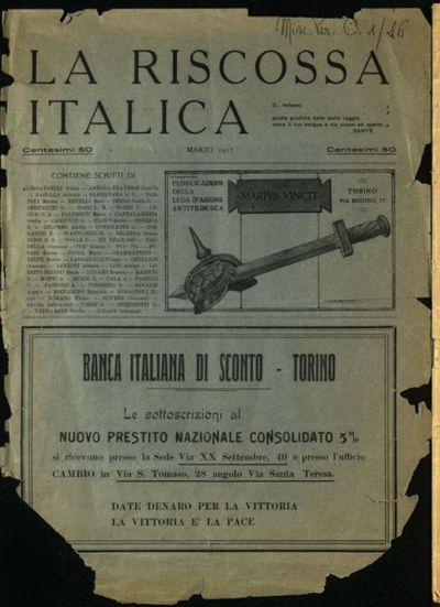 La riscossa italica : pubblicazione della Lega d'azione antitedesca