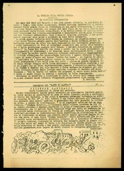 Il fante di bastoni : edizione umoristica del 46. Regg.to Fanteria