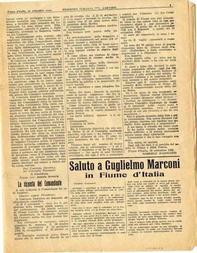 Reggenza italiana del Carnaro : raccolta degli atti ufficiali