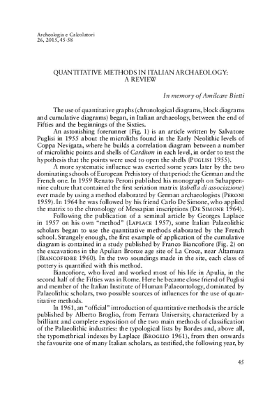 Quantitative methods in Italian archaeology: a review.