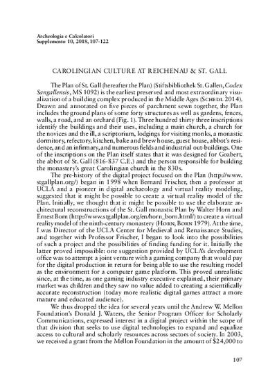Carolingian culture at Reichenau and St. Gall