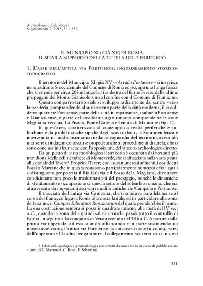 Il Municipio XI (già XV) di Roma. Il SITAR a supporto della tutela del territorio.
