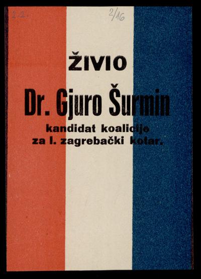 Long live Dr Gjuro Šurmin