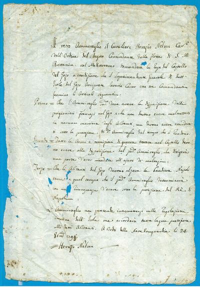 Draft capitulation of the French in Gozo