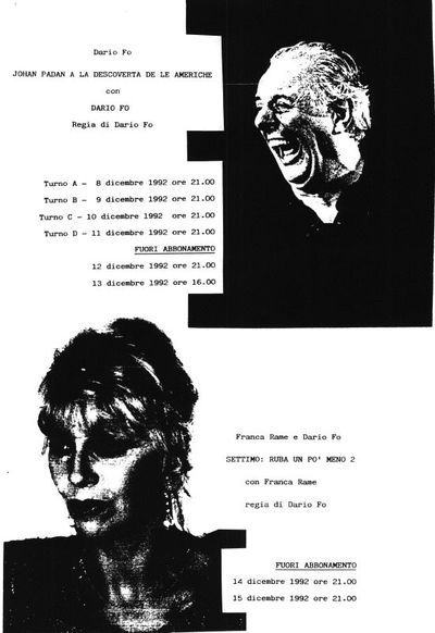 Volantini Mostre di Dario Fo e Franca Rame<BR>Documenti dal 1972