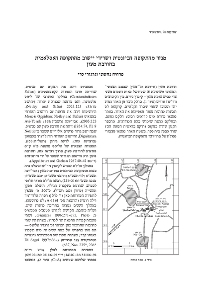 A Byzantine Monastery and Islamic-Period Settlement Remains at Horbat Ma'on (Hebrew, pp. 13*–62*, English summary, pp. 162–163)