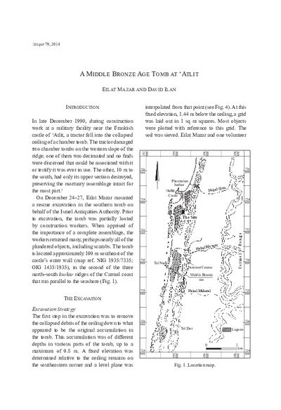 A Middle Bronze Age Tomb at 'Atlit (pp. 111–130)