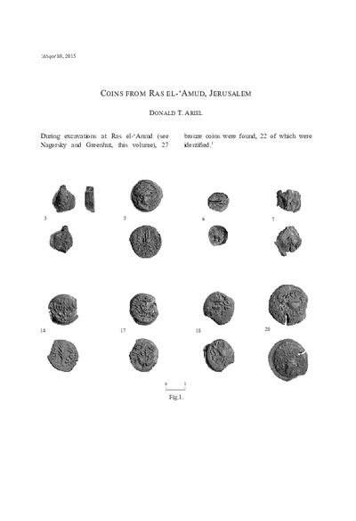 Coins from Ras el-'Amud, Jerusalem (pp. 13–17)