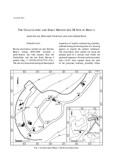 The Chalcolithic and Early Bronze Age IB Site of Beqo'a (pp. 9–54)