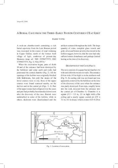 A Burial Cave from the Third–Early Fourth Centuries CE at Iqrit (pp. 59–96)