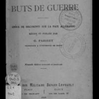 Leurs buts de guerre : choix de documents sur la paix allemande - Nouvelle édition remaniée et continuée