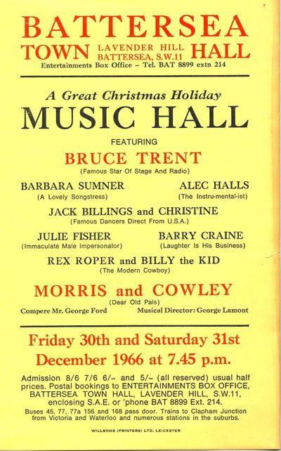 Festival of Music Hall, 30-31 December 1966