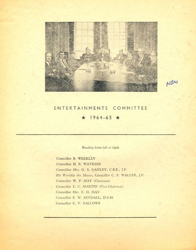Entertainments Committee, 1964-65