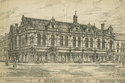 Unsuccessful proposal for Battersea Town Hall