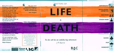 Matters of Life & Death programme