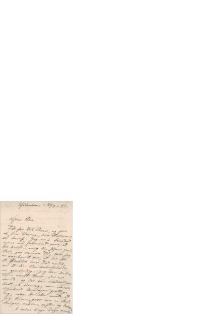 Brev, 1895 08.21, Kjøbenhavn, til Edvard Grieg