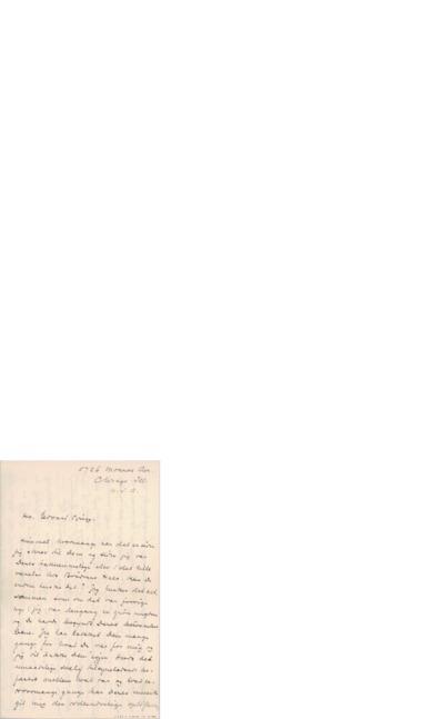 Brev, 1898 10.?, Chicago, til Edvard Grieg