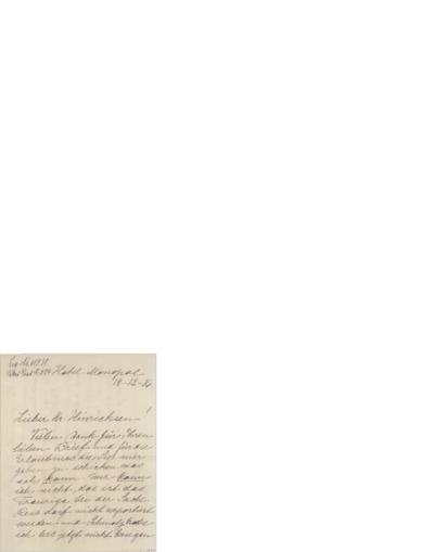 Brev, 1916 12.18, Hotel Monopol, til Henri Hinrichsen