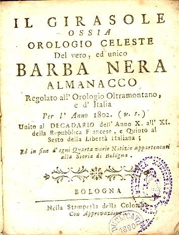 Per l'anno 1802 ...