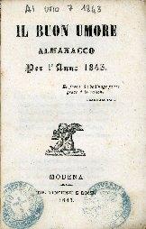 Il buon umore : almanacco per l'anno ...
