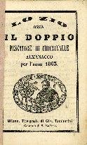 Lo zio, ossia Il doppio Pescatore di Chiaravalle : almanacco per l'anno ...