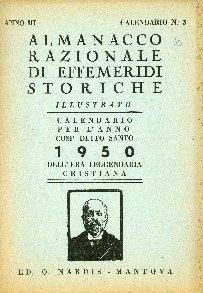 Almanacco razionale di effemeridi storiche illustrato : calendario per l'anno ...