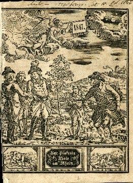 Verbesserter Kalender genannt der Hinkende Bote am Rhein ...