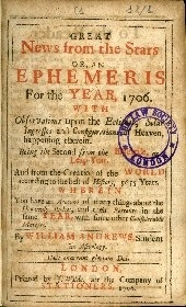 Great news from the stars, or an Ephemeris for the year ...