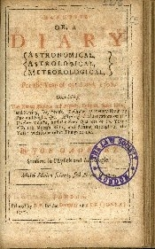 Efemeris, or a Diary astronomical, astrological, meteorological for the year or our Lord ...