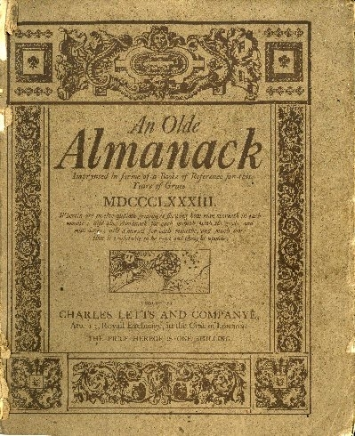 An olde almanack in forme of a booke of reference for this presen Yeare of grace ...