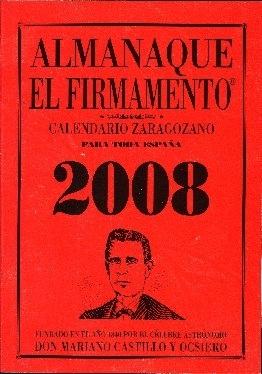 Almanaque El Firmamento : calendario zaragozano para toda España ...