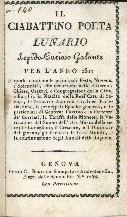 Il ciabattino poeta : lunario lepido-curioso-galante per l'anno ...