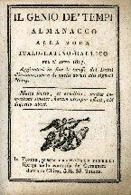 Il genio de' tempi almanacco alla moda italo-latino-gallico per l'anno 1817. Aggiuntevi in fine le tariffe dei dritti d'insinuazione e di quelli dovuti alli signori notaj