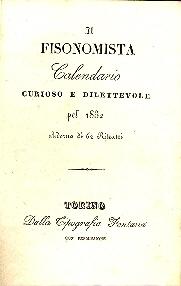 Il fisonomista : calendario curioso e dilettevole pel ...