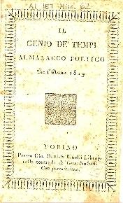 Il genio de' tempi : almanacco poetico per l'anno ...