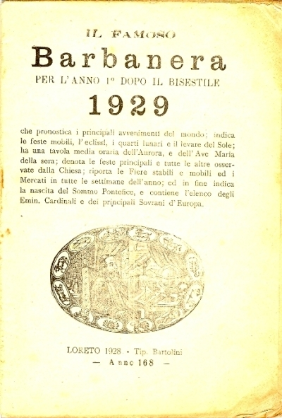 168: Per l'anno 1. dopo il bisestile 1929
