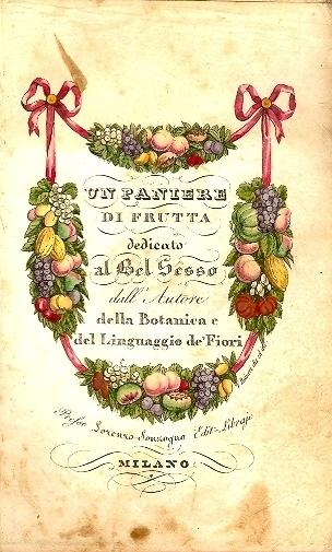 Un paniere di frutta dedicato al bel sesso dall'Autore della Botanica e del Linguaggio de' Fiori