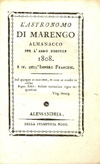 L'astronomo di Marengo : almanacco per l'anno ...