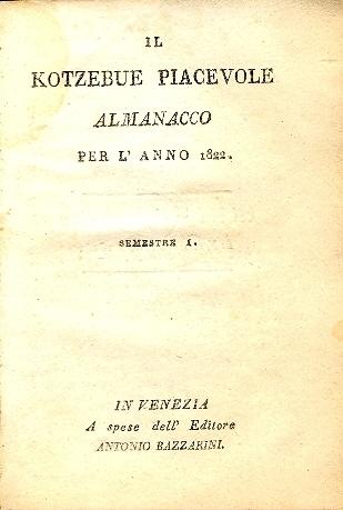 Il Kotzebue piacevole : almanacco per l'anno ...
