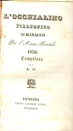 L'occhialino filosofico : almanacco per l'anno ...