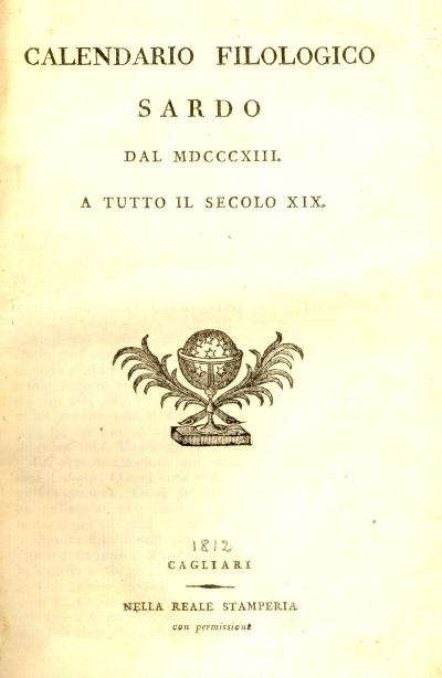 Calendario filologico sardo dal 1813 a tutto il secolo 19