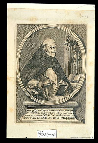 [Retrato de Fray Luis de Granada] Pasqe. Cuco f. Va. (el Boletín de la Sociedad Castellonense de Cultura, abril-junio 1962, páginas 163-167, trata de este grabado)
