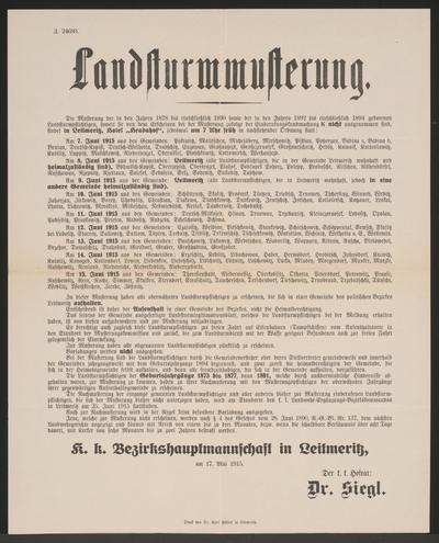 Landsturmmusterung – Leitmeritz