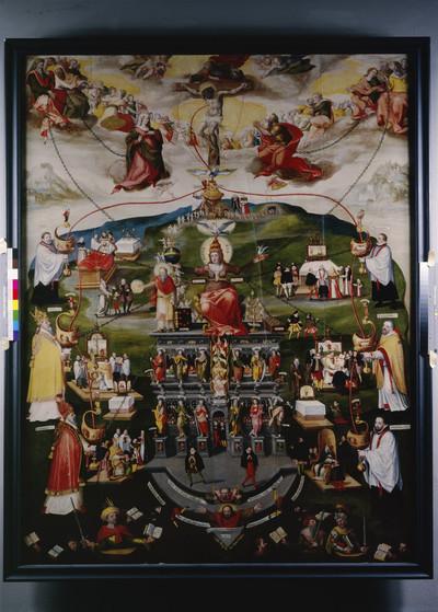 Epitaph des Domherren Ernst von Wrisberg (gest. 1590) & Wrisberg-Epitaph — Kreuzigung mit gemaltem Katechismus